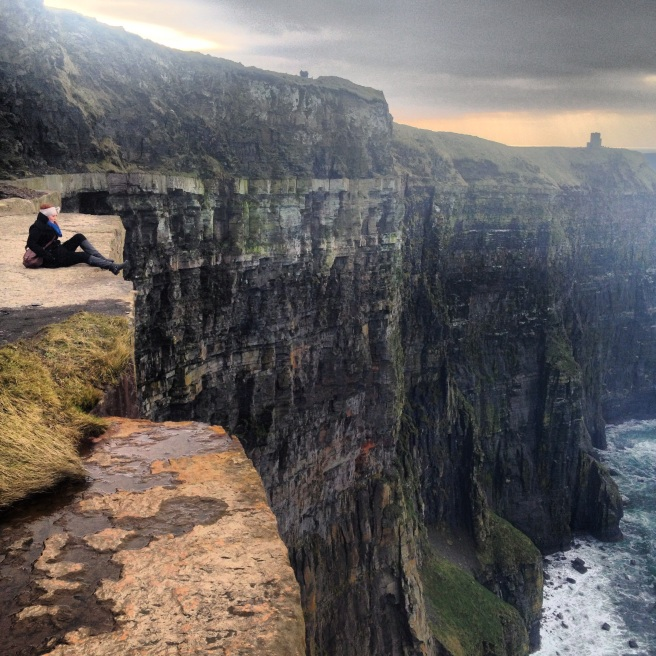 On the Cliffs of Moher in Ireland