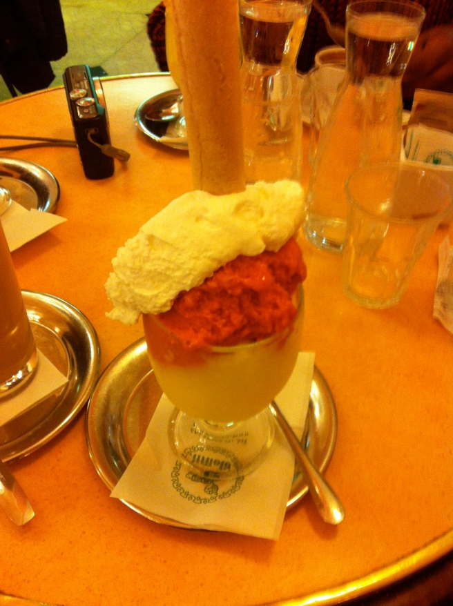 At Giolitti, try the champagne flavor!