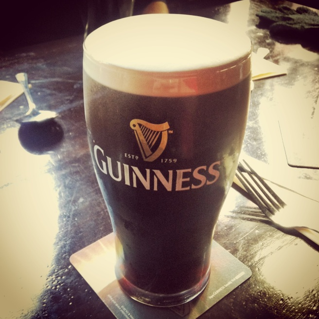 A perfect pint of Guinness