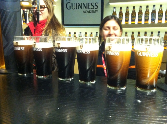 At the Guinness Tour