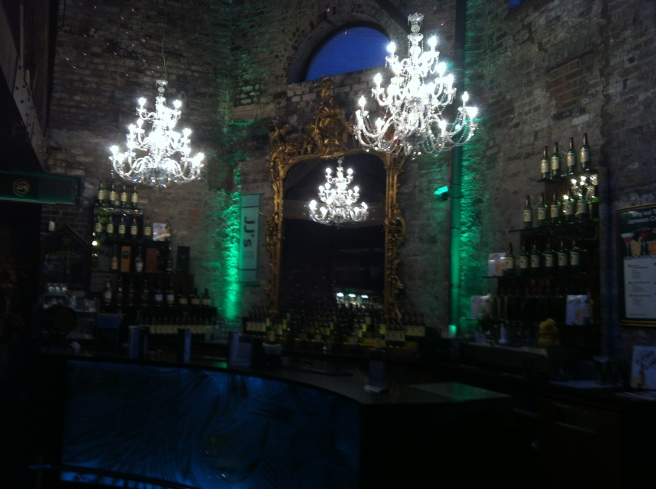 The bar at the Jameson Distillery