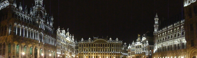 The Grand Place panorama style... how is it I forgot my camera did this until now?