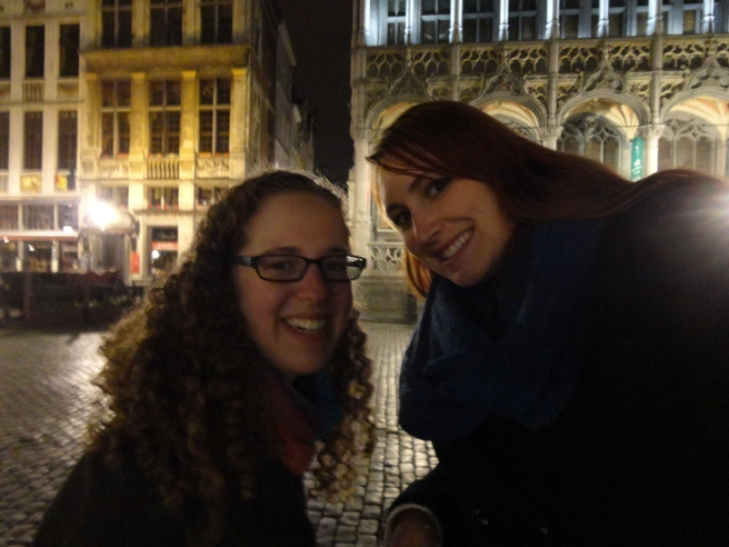 Me and Dana at the Grand Place