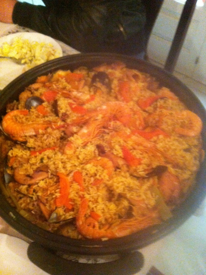Steamy Seafood Paella