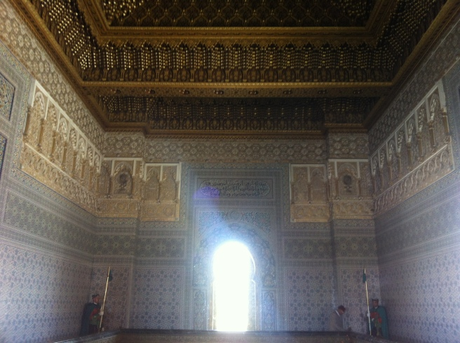 Inside the masoleum for the King