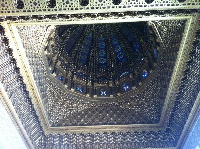 The ceiling of the masoleum