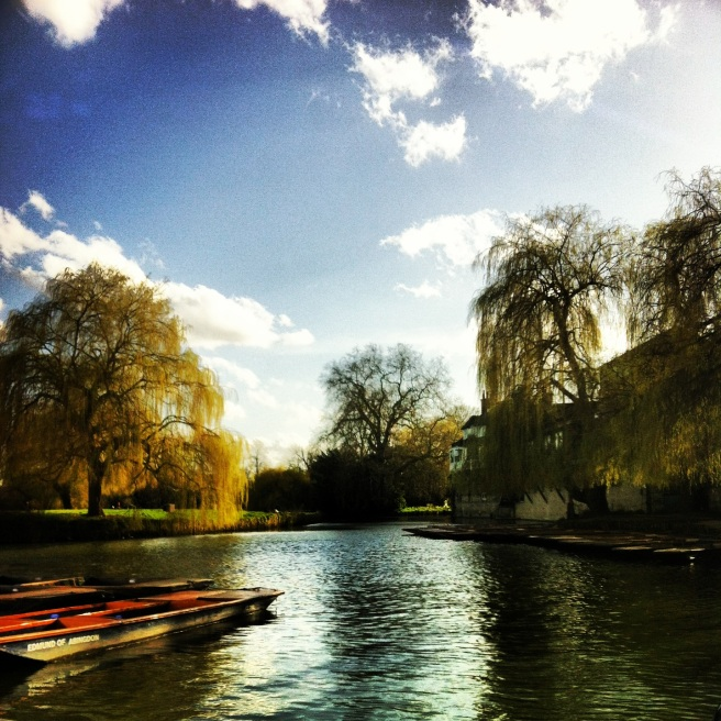 Had a drink at a pub on the River Cam.  This was the view.