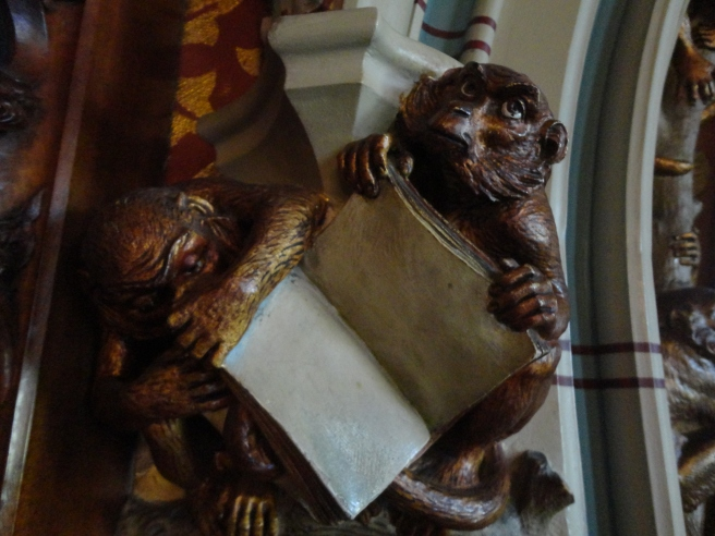 I loved this weird little book reading monkey.