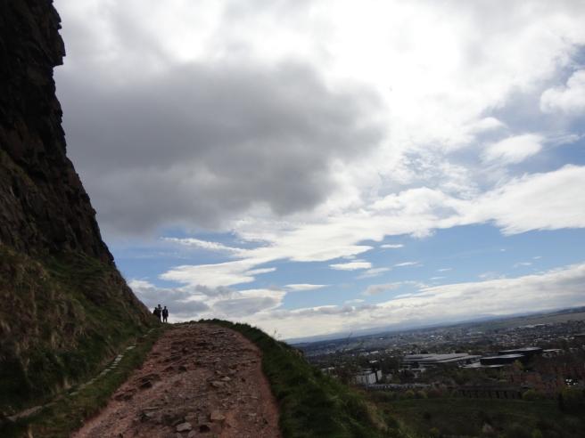 On a hike to Arthur's Seat, a mountain that overlooks Edinburgh
