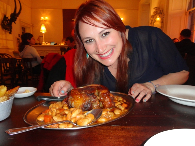 So happy about that massive chunk of pork belly amazingness.