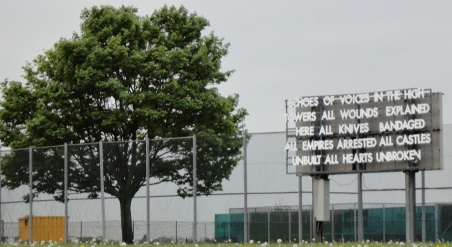 On a softball feild. Makes sense to this ex-softball girl.