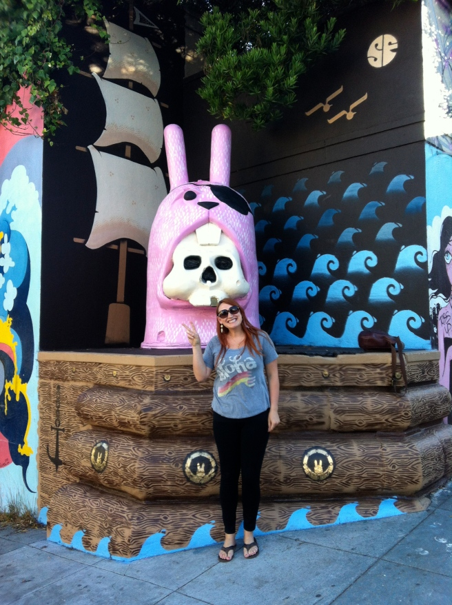 Playing tourist with the lower Haight bunny