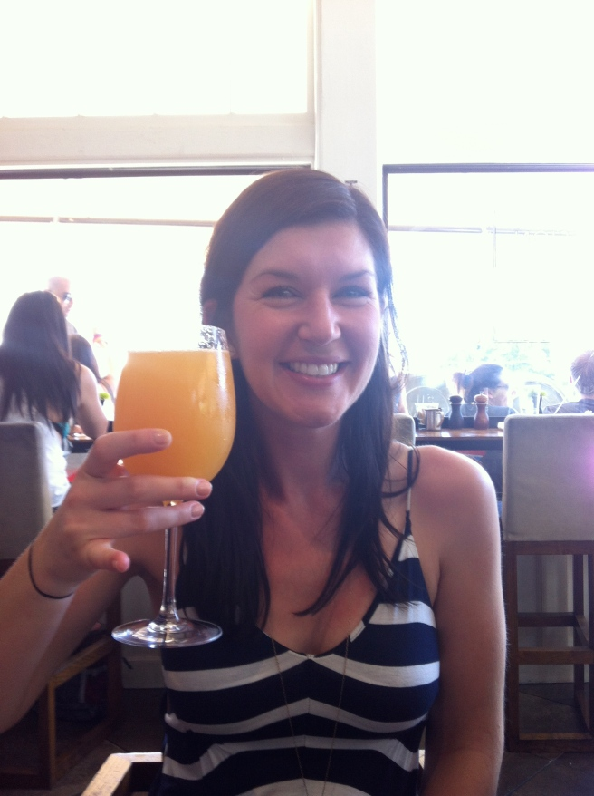 Early morning mimosas to kick off a day that almost killed me!