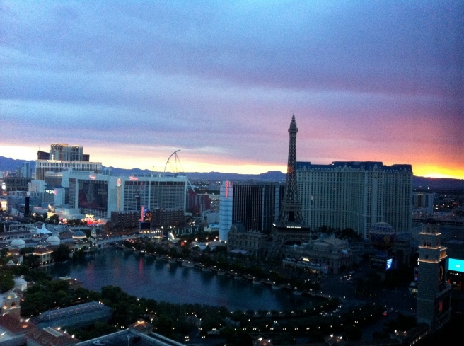 Sunrise at the Cosmo.